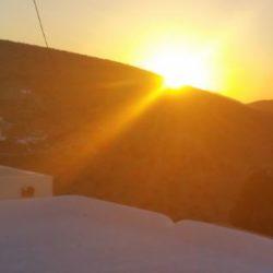 Sonnenaufgang Sikinos  von unserer Terasse aus